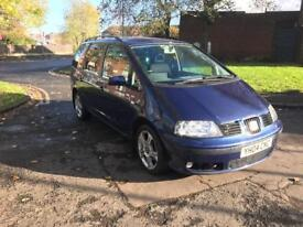 2004 SEAT ALHAMBRA 1.9TDI 130BHP 12 MONTHS MOT 7 SEATER FOR SALE