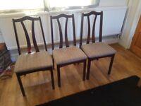 6 Mahogany Dining Table Chairs