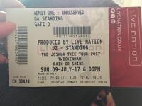 2 x U2 Tickets