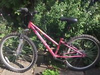Girls bike Apollo Vivid pink 2 years old good condition would suit 9-12 Year old