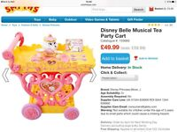 New Disney belle musical tea party trolley