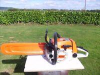 SOLD .....Stihl 024av super professional chainsaw