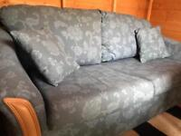 Blue metal action sofa bed