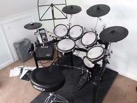 Roland TD9KX. VGC + Amp, extra tom, extra cymbal and mesh kick pad. Mapex throne. Heavy duty mat