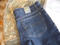 men's denim blue streatch jeans , 36 inch waist & long length , brand new,quality,stanmore,middx...