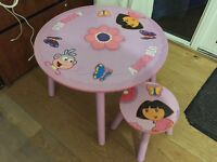 Dora The Explorer Table & Chair