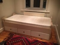 John Lewis single bed with drawers