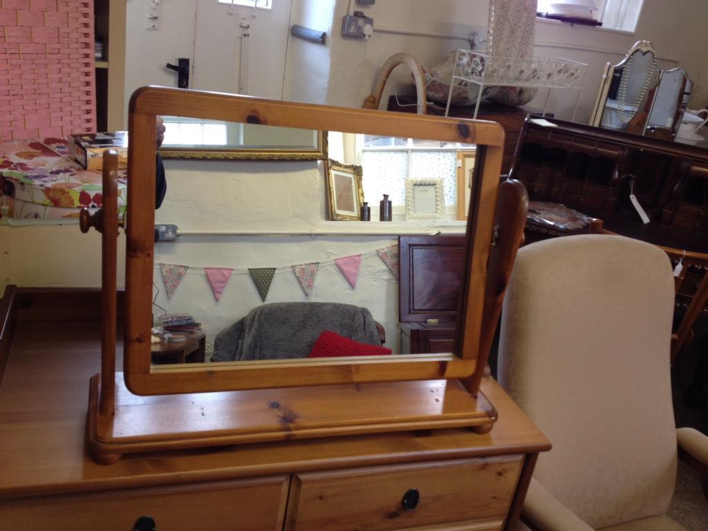 Antique Pine Dresser Mirror