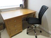 Solid Oak Desk or Dressing Table (Custom Made)