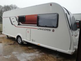 Bailey Unicorn S3 Valencia 2015 4 berth fixed bed Motormover Solar Panel Tracker