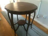 Circular antique mahogany table