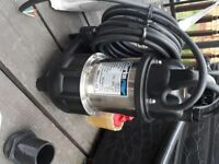 Clarkes 110V submersible pump brand new. Will pump 300 litres / min. for ponds, pools, floods etc