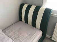 Sleigh bed frame for single bed
