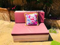 X2 Pink/purple garden pallet furniture