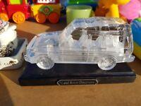 Land rover glass sculpture