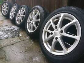 "15"" inch Tsw Alloy wheels 4x114.3 Nissan s13 Honda civic mb prelude Mitsubishi Volvo s40 v40"