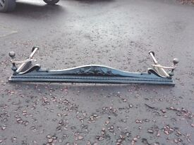 "Antique cast iron fire guard with copper trim. 4' 4"" long (52"" or 1.33 metres)"