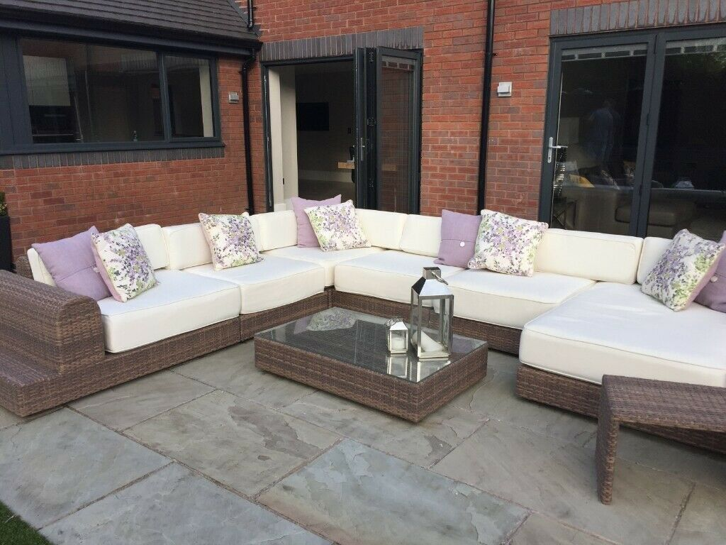 Fine Alexander Francis Contemporary Milano Rattan Large Modular Corner Sofa Set Coffee Table In Solihull West Midlands Gumtree Andrewgaddart Wooden Chair Designs For Living Room Andrewgaddartcom