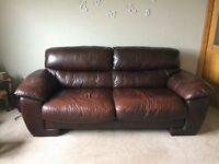 VGC dark brown sofa and armchair (optional)