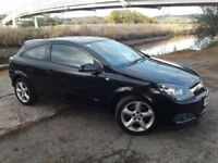 """57 PLATE (07)REG ASTRA SRI DIESEL COUPE IN BLACK...11 MONTHS MOT..17"""" ALLOYS..SPORTS STYLE SEATING.."""