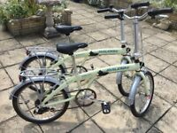 Raleigh Stowaway 7 cycles x2 with stands