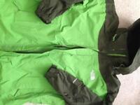 Mens north face green coat