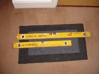 STABILA Professional Spirit Levels--- 80cm and 60cm----USED