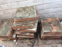 Reclaimed Victorian 6x6 quarry tiles. approx 50
