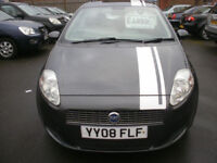 SORRY NOW SOLD ,FIAT GRANDE PUNTO 1.2 ACTIVE STRIPE LTD EDITION 2008/08 ONLY 72K