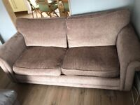 DFS 3 Seater Fabric Sofa Bed