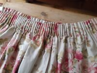 2 pairs of Chintz Linen curtains, almost new!
