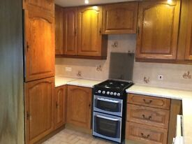 Kitchen units, cooker and Fridge Freezer