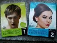 Hairdressing and Barbering course books levels 1&2