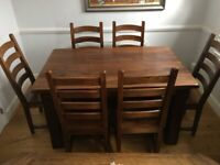 Wooden Mango Dining Table & Chairs