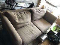 Large brown John Lewis sofa