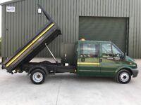 FORD TRANSIT 2.2 350 CREW CAB TIPPER 2013 (63 reg) 45,200m Finance from £49.00 pw* Full MOT