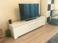 TV Unit / Stand / Cabinet in White High Gloss IKEA