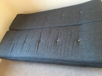 Grey sofa bed immaculate open to offers