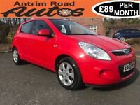 2010 HYUNDAI I20 COMFORT 1.2 ** FULL SERVICE HISTORY ** FINANCE AVAILABLE WITH NO DEPOSIT **