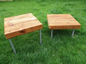 Handmade chunky side tables / occasional tables