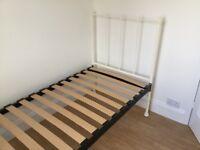 Single Metal Framed Bed