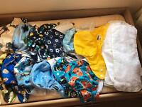 12 Birth to Potty Pocket Nappies and 12 inserts