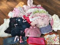 Large baby girl clothes bundle 0-3 months