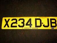 CAR REGISTRATION X234 DJB ON RETENTION CERTIFICATE