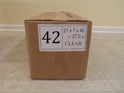 42 Clear Plastic Dry Cleaning Poly Bag Garment Bags 550 Bags - Made In Usa