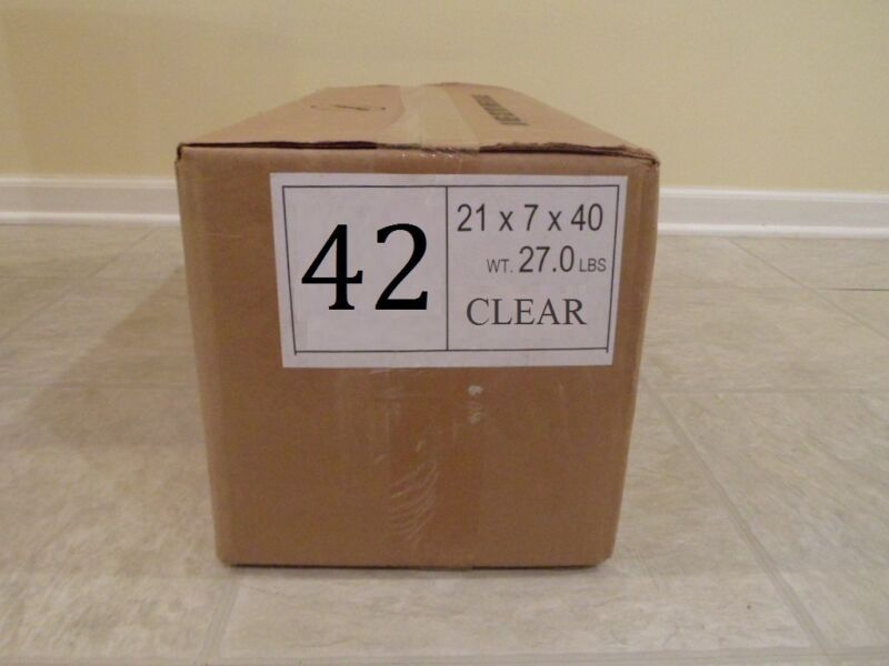 """42"""" CLEAR Plastic Dry Cleaning Poly Bag Garment Bags 550 BAGS - MADE IN USA"""