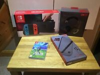 Nintendo Switch: Neon Red/Blue Joy-con console – Small Bundle!