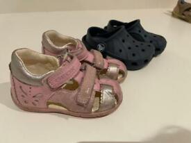 Geox Sandals, Crocs, size 20. Good condition
