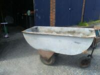 LARGE 3 WHEELED BARROW / TROUGH