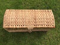 Woven ottoman blanket/toy/bed End storage box chest small